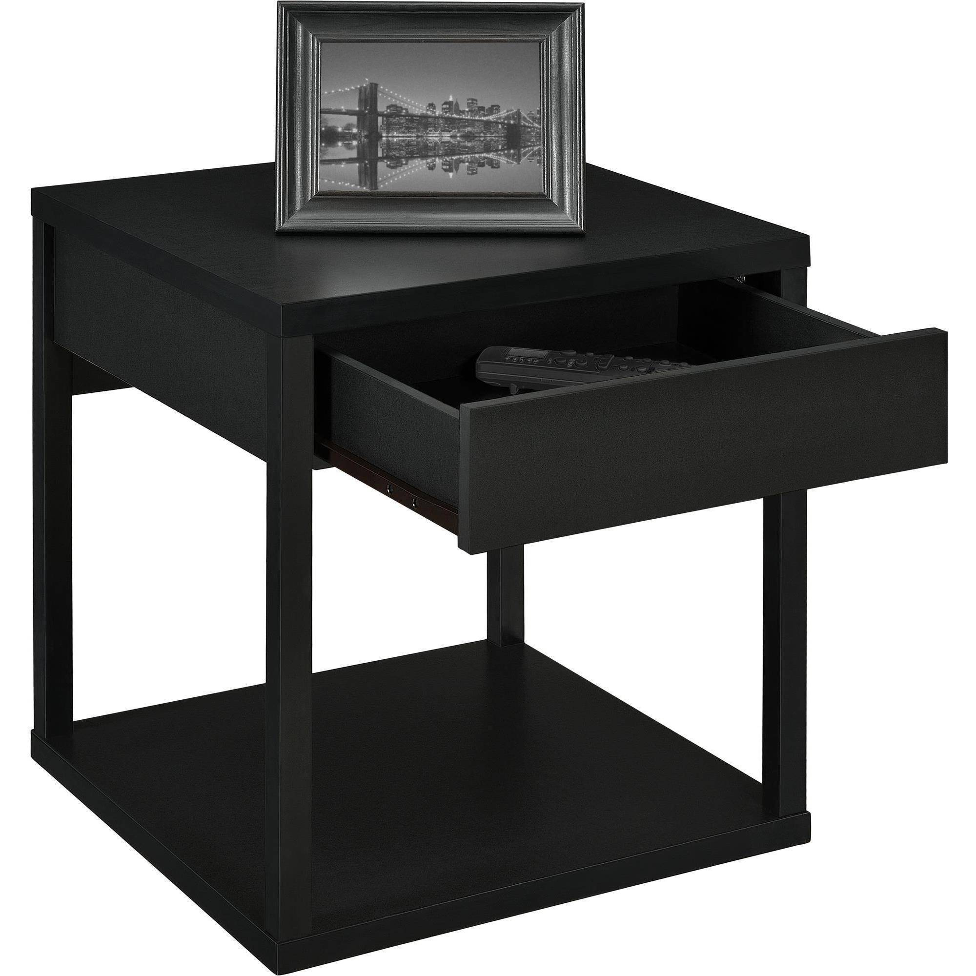 Black End Tables With Drawer Mainstays Parsons End Table With Drawer Multiple Colors