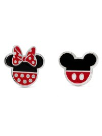 Disney - Sterling Silver Mickey and Minnie Mouse Stud ...