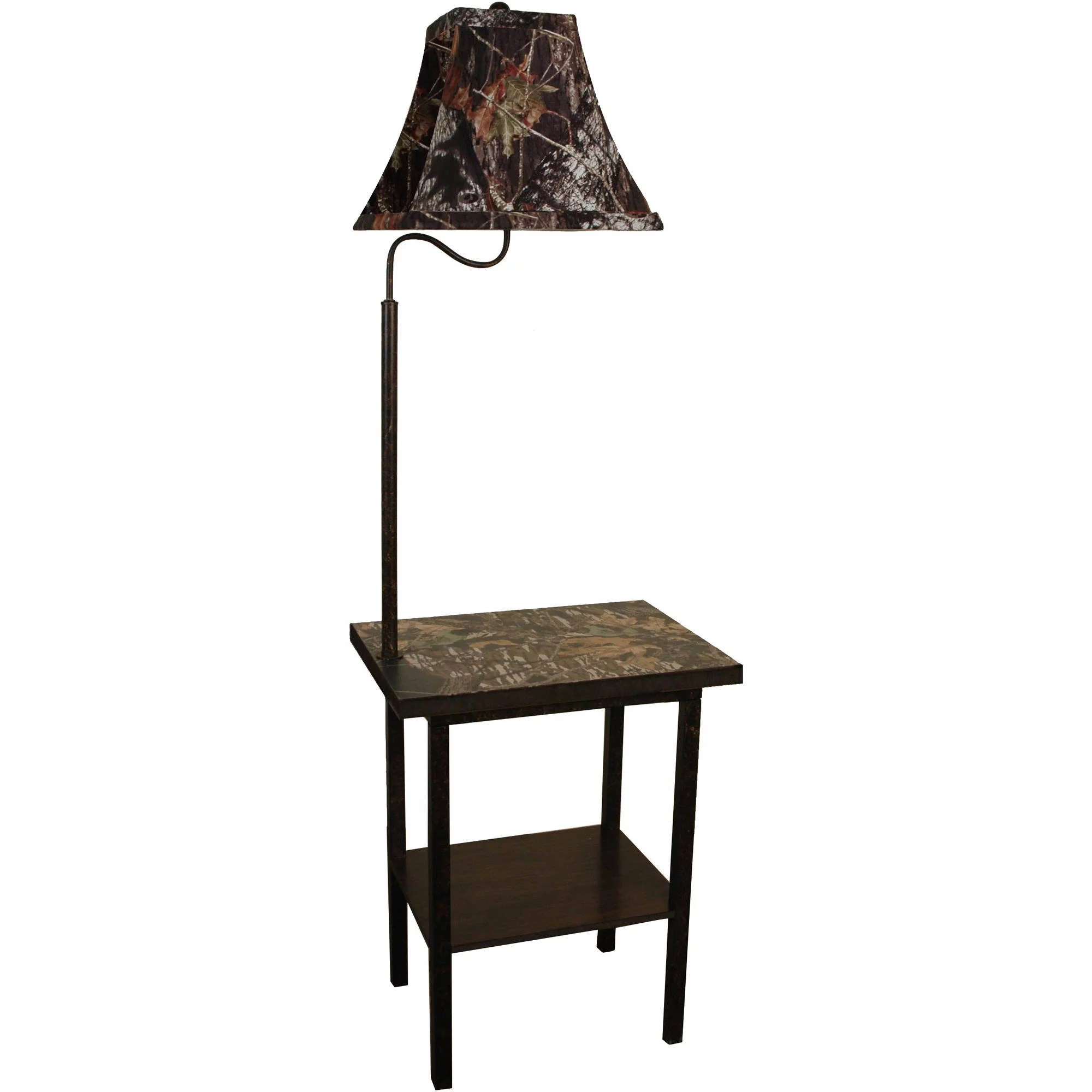 End Table With Lamp Built In Mossy Oak Furniture Floor Lamp Brown