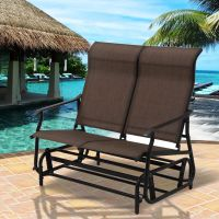 Costway 2 Person Patio Glider Rocking Bench Double Chair ...