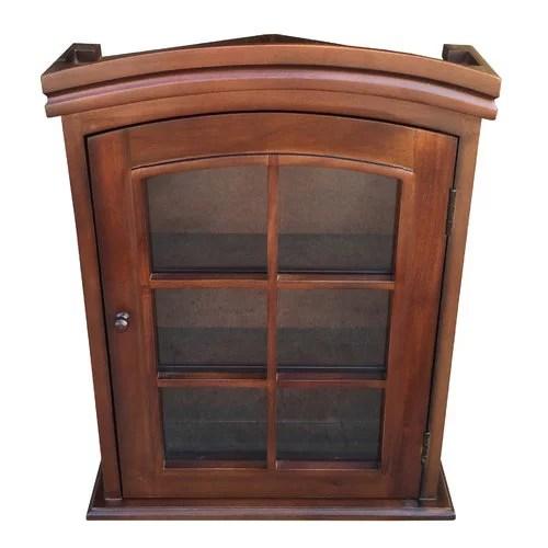 Astoria Grand Arthers Treasure Wall Mounted Curio Cabinet