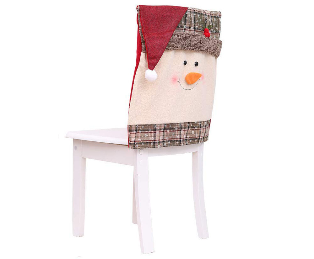 Christmas Chair Covers Dining Chair Covers Christmas Chair Back Cover Snowman Santa Claus Hat Slipcovers Decoration Walmart Com Walmart Com