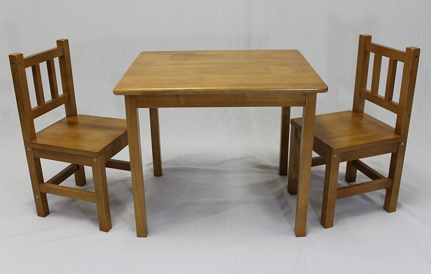 Childrens Table And Chair Set Ehemco Kids Table And 2 Chairs Set In Honey Oak