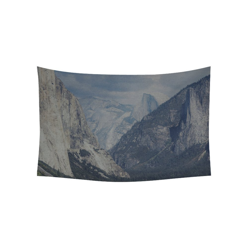 Decoration Massif Ykcg Home Decoration Yosemite Mountain Nature Rock Sky Forest Cloud Wall Hanging Tapestry 80 X 60 Inches