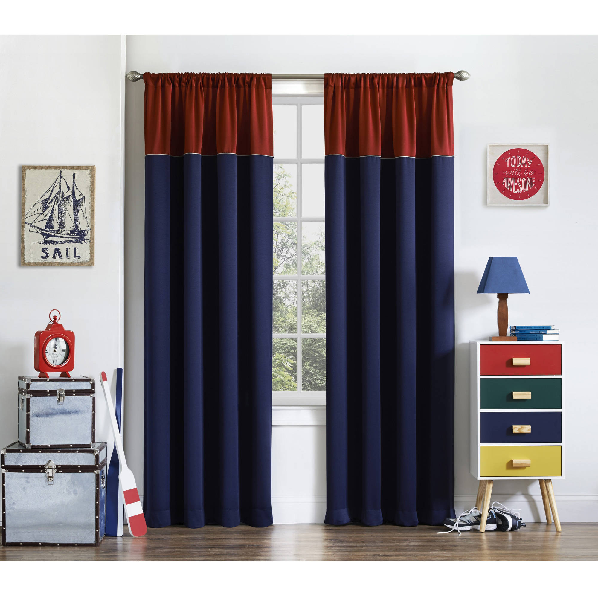 Bedroom Curtains Room Darkening Eclipse Luna Room Darkening Kids Bedroom Curtain Walmart