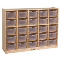 ECR4KIDS 25 Tray Storage Cabinet with Clear Bins