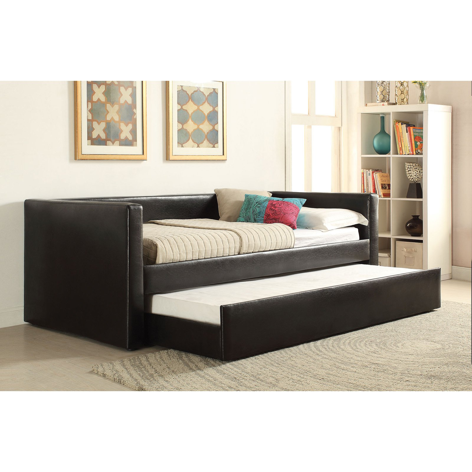Cheap Beds Melbourne Acme Melbourne Upholstered Day Bed With Trundle