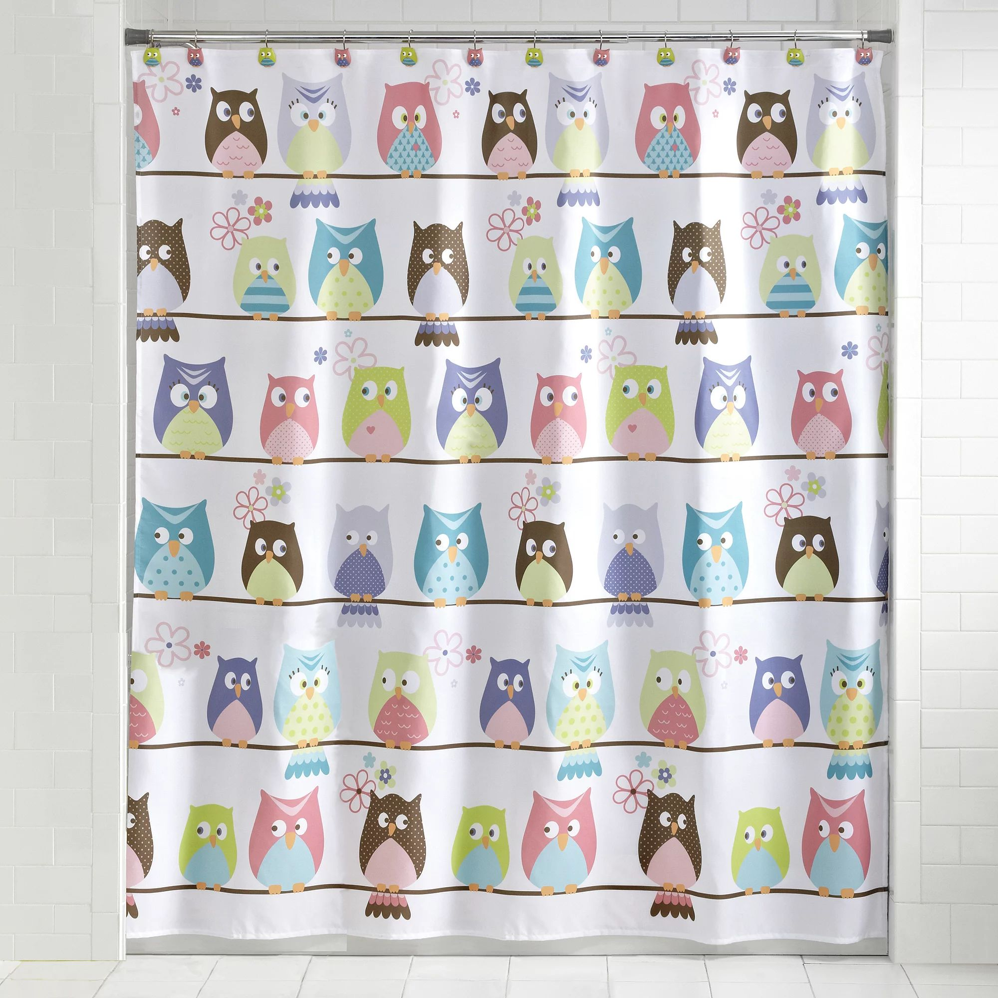 Mainstays whooty hoot decorative bath collection shower curtain walmart com