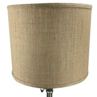 Fenchel Shades 12'' Burlap Drum Lamp Shade