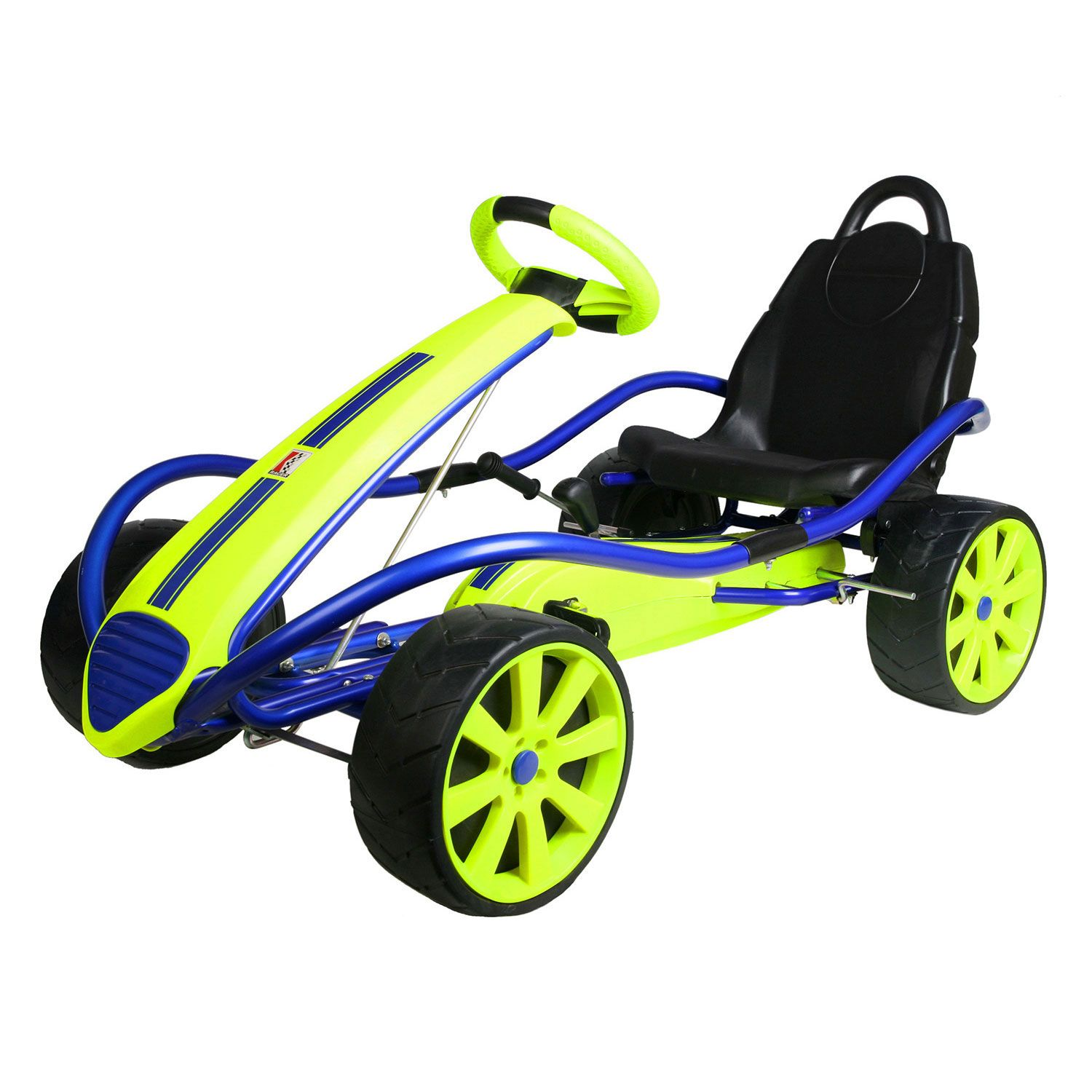 Kettler Kids Comfort Kettler Sport Kid Racer Pedal Car Blue Yellow