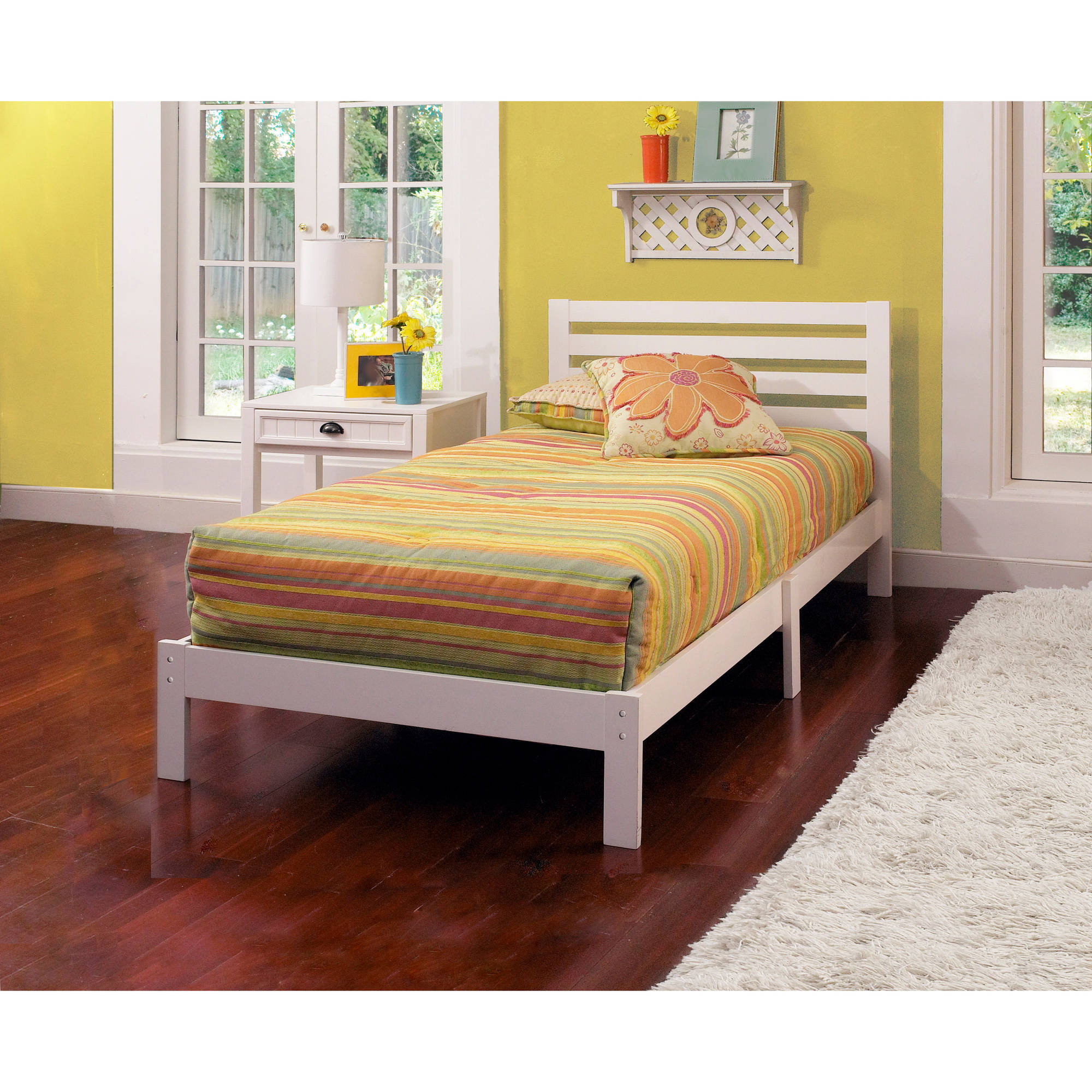 Aiden twin bed white