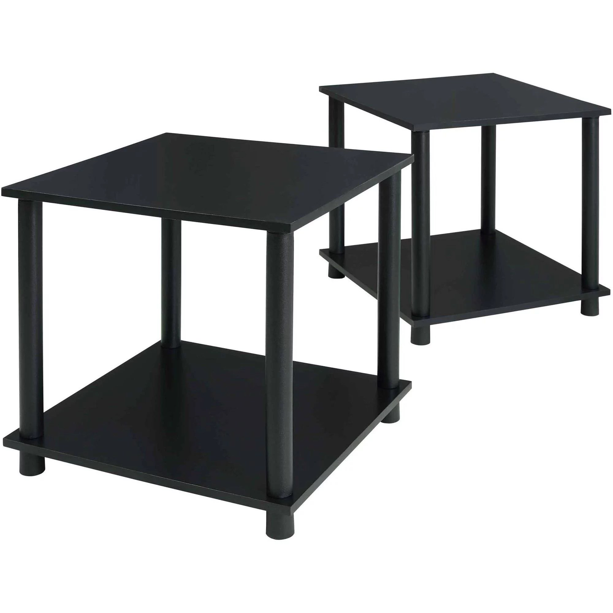 Black End Table With Storage Mainstays No Tools Single Cube Storage Shelf Side Tables