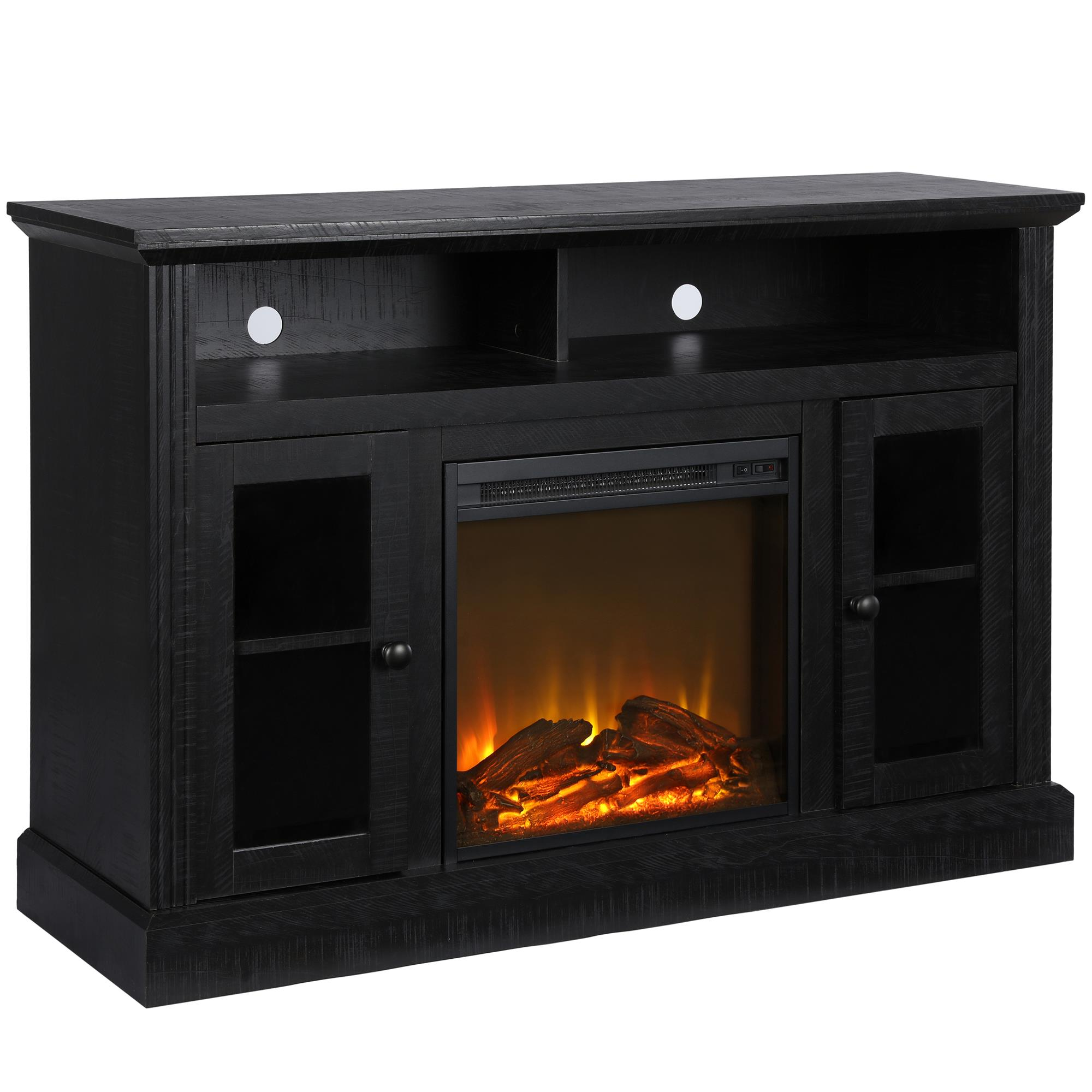 Walmart Black Electric Fireplace Ameriwood Home Chicago Electric Fireplace Tv Console For Tvs Up To A 50