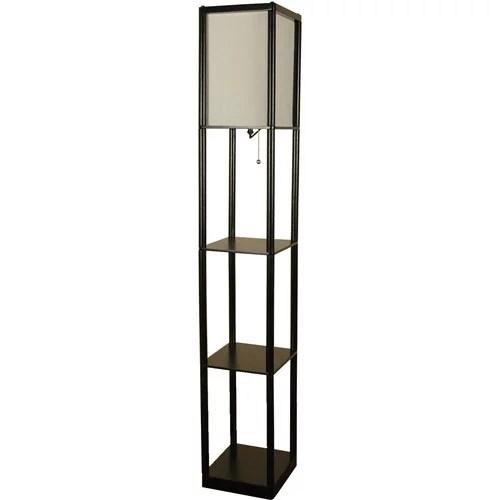 Mainstays Shelf Floor Lamp, Black