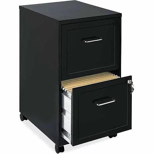 Lorell 2 Drawers Vertical Steel Lockable Filing Cabinet