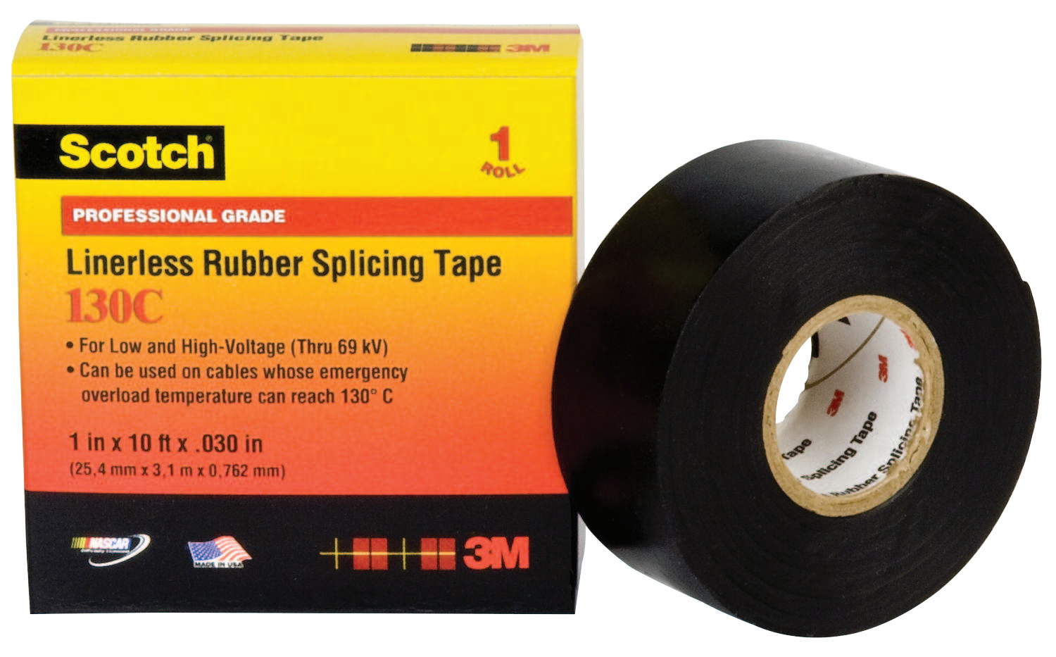 Splicing Tape 3m Electrical Scotch Linerless Splicing Tapes 130c 30 Ft X 2 In Black