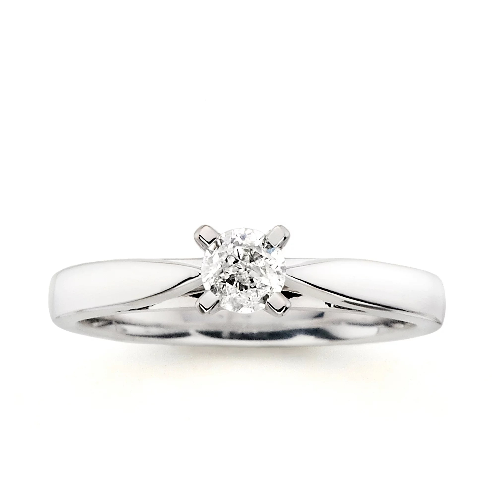 Always & Forever Platinaire 1/3 Carat Round Solitaire