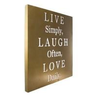 Live Laugh Love Metal Wall Art Inspirational Words Home ...