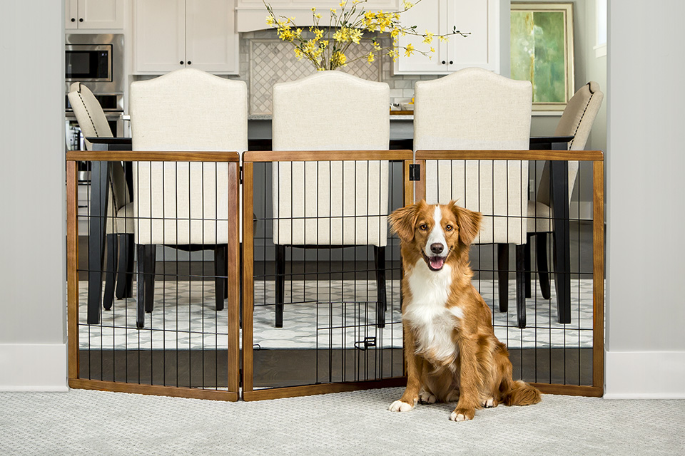 Design Paw Extra Tall 3 Panel Wooden Gate