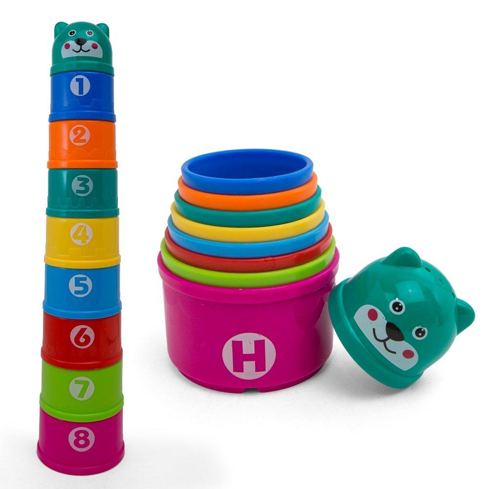 Abc Rainbow City Al Kidsthrill Educational Rainbow Stacking Nesting Cups