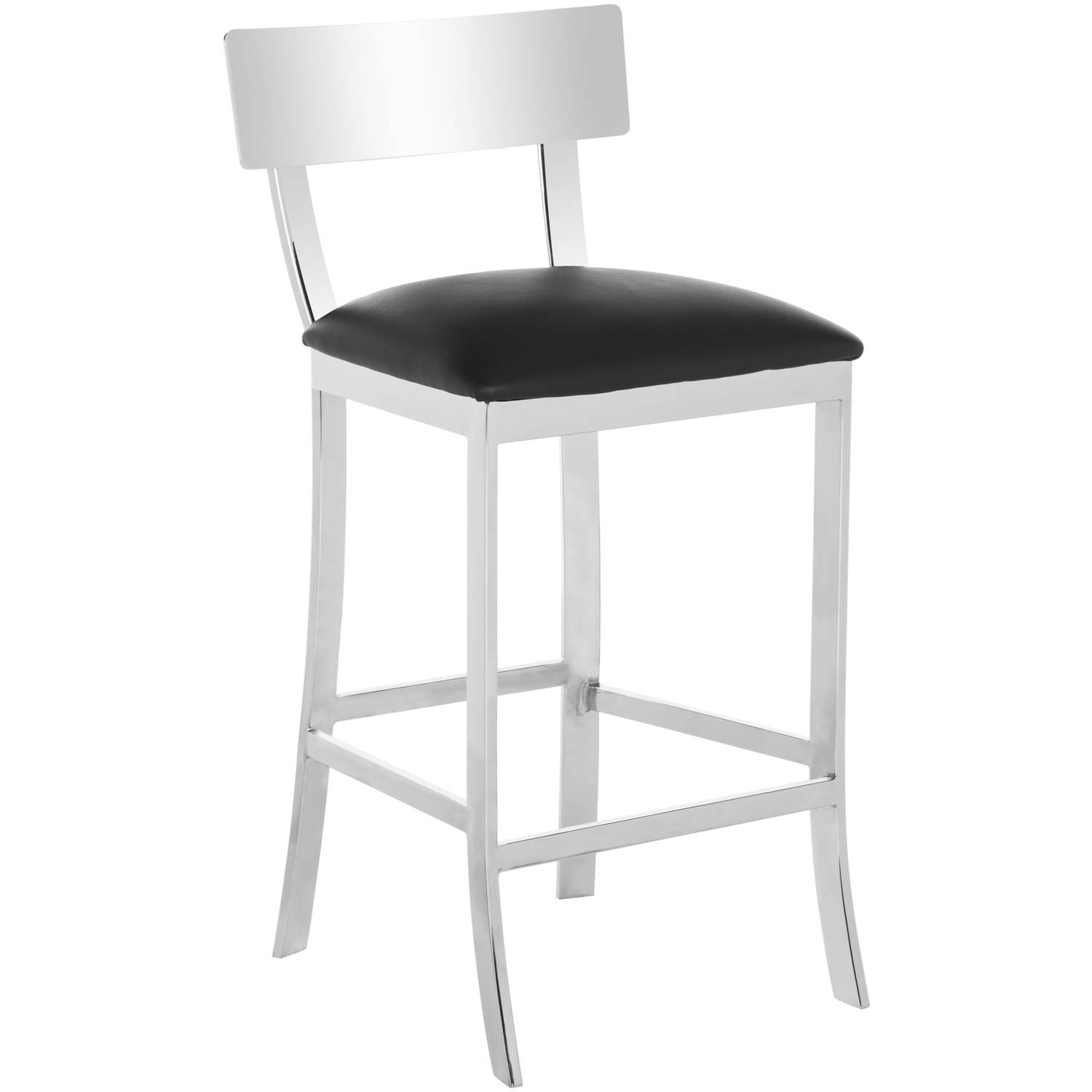 Stainless Bar Stools Safavieh Abby Stainless Steel Bicast Leather Counterstool