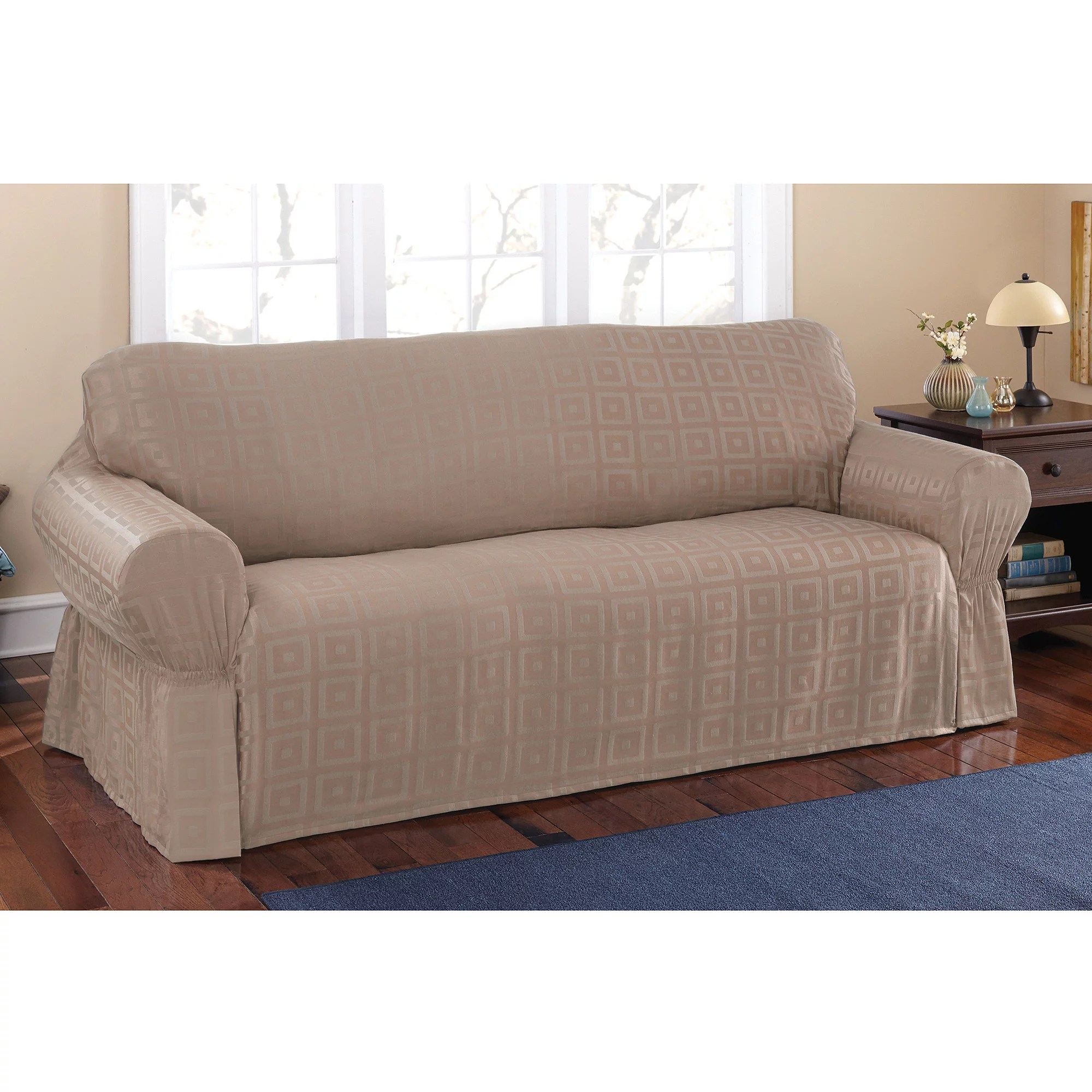 Sofa Slipcovers Mainstays Sherwood Slipcover Sofa