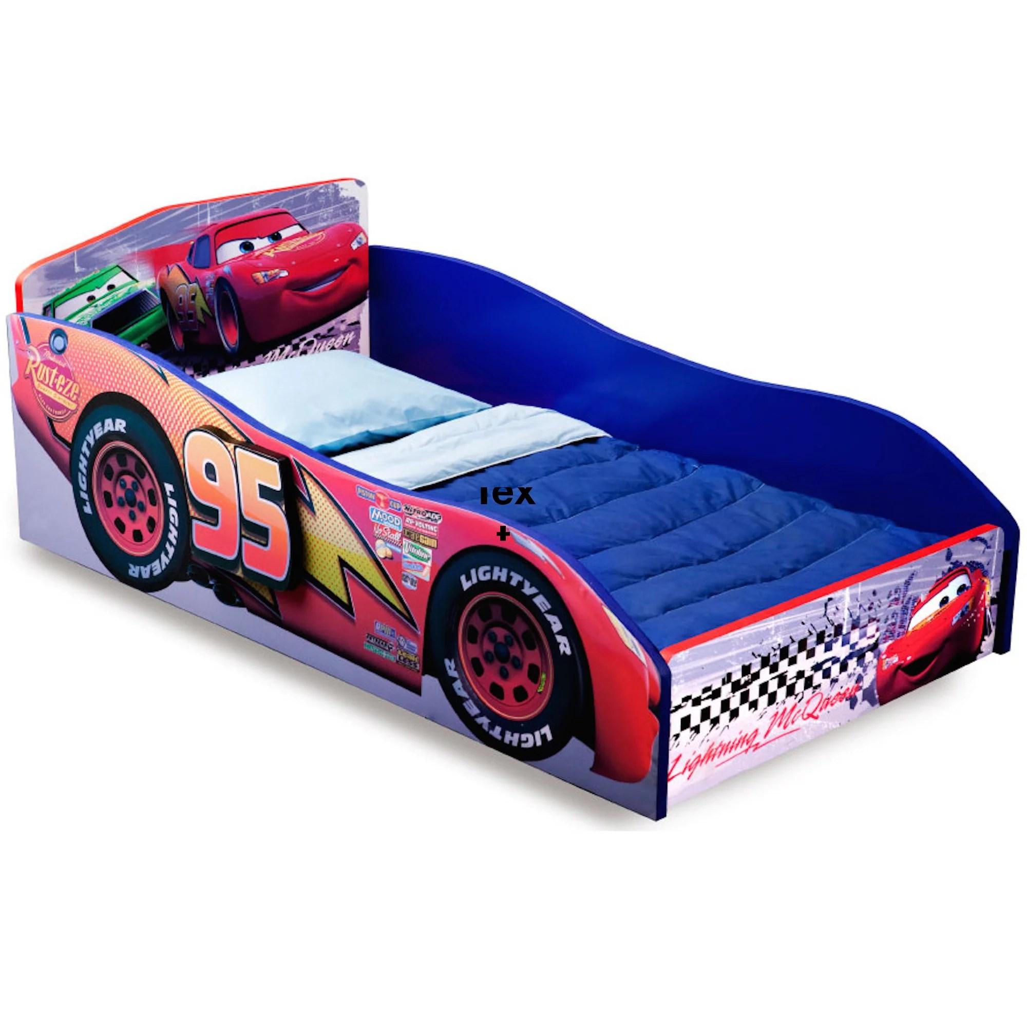 Wooden Toddler Bed Kids Car Furniture Boys Bedroom Frame