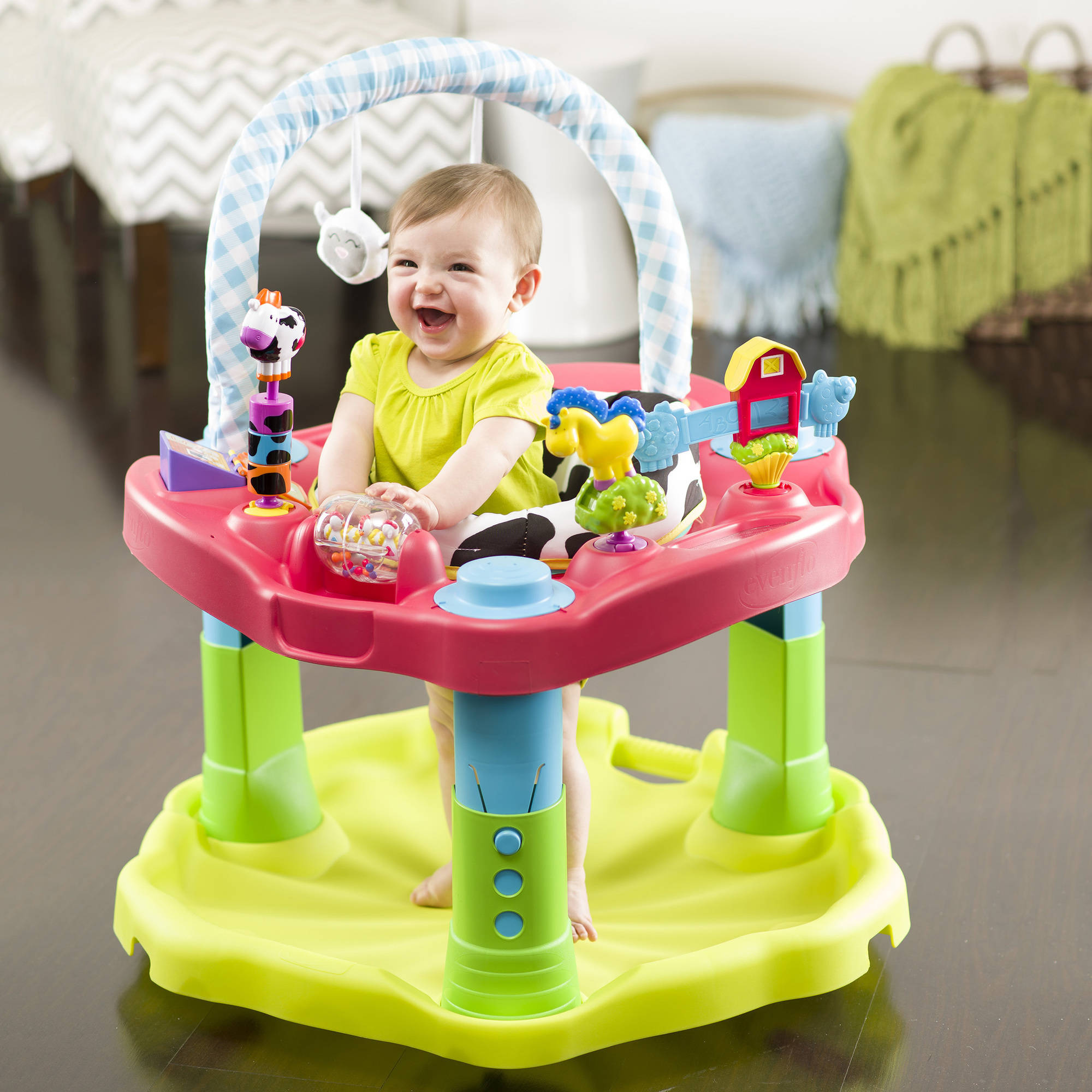 Baby Activity Center Details About Evenflo Exersaucer Baby Infant Jumper Bounce Learn Activity Center With Toys
