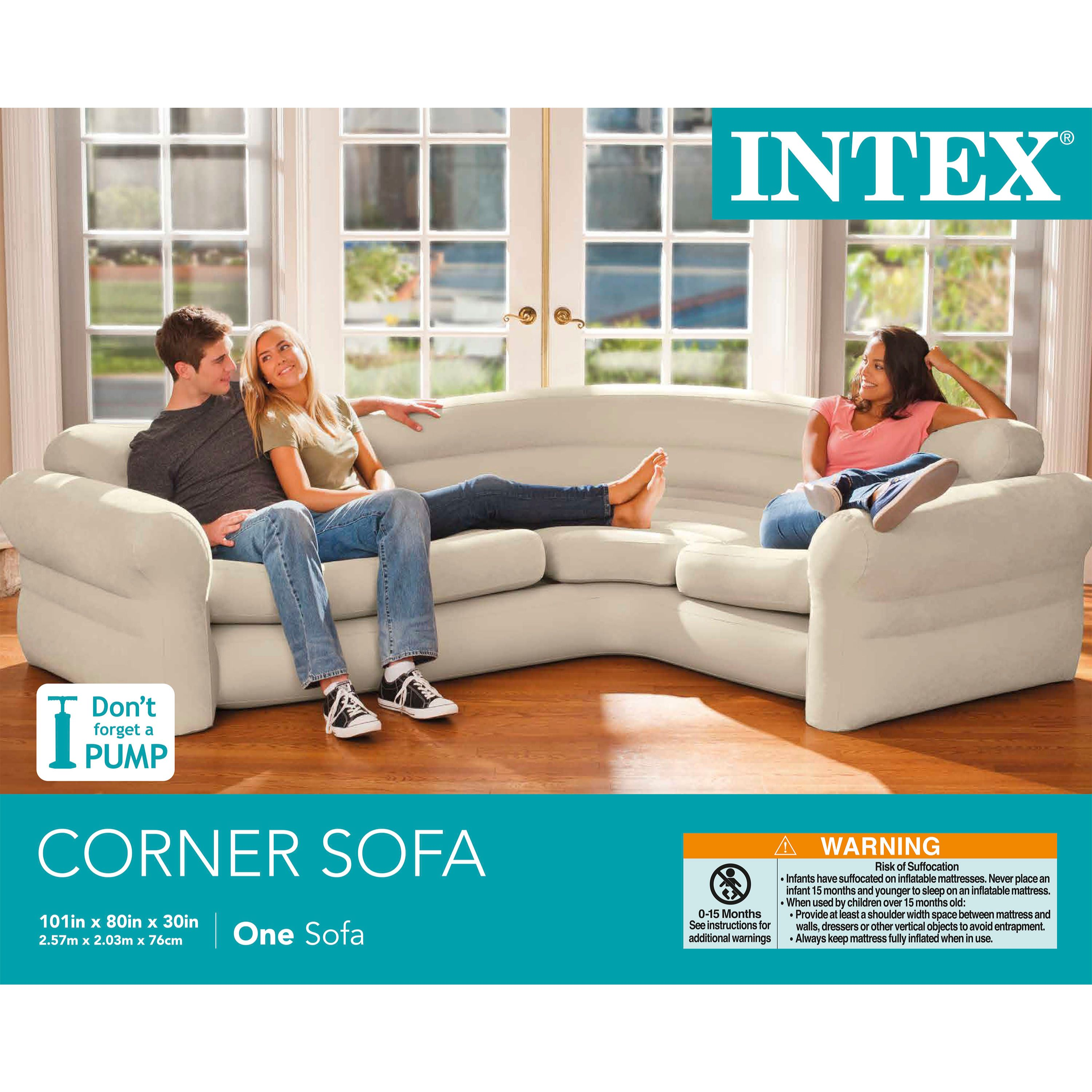 Intex Inflatable Corner Couch Walmart Com Walmart Com - Inflatable Chair Sofa