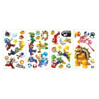 Nintendo - Super Mario Bros. Wii Peel and Stick Wall ...