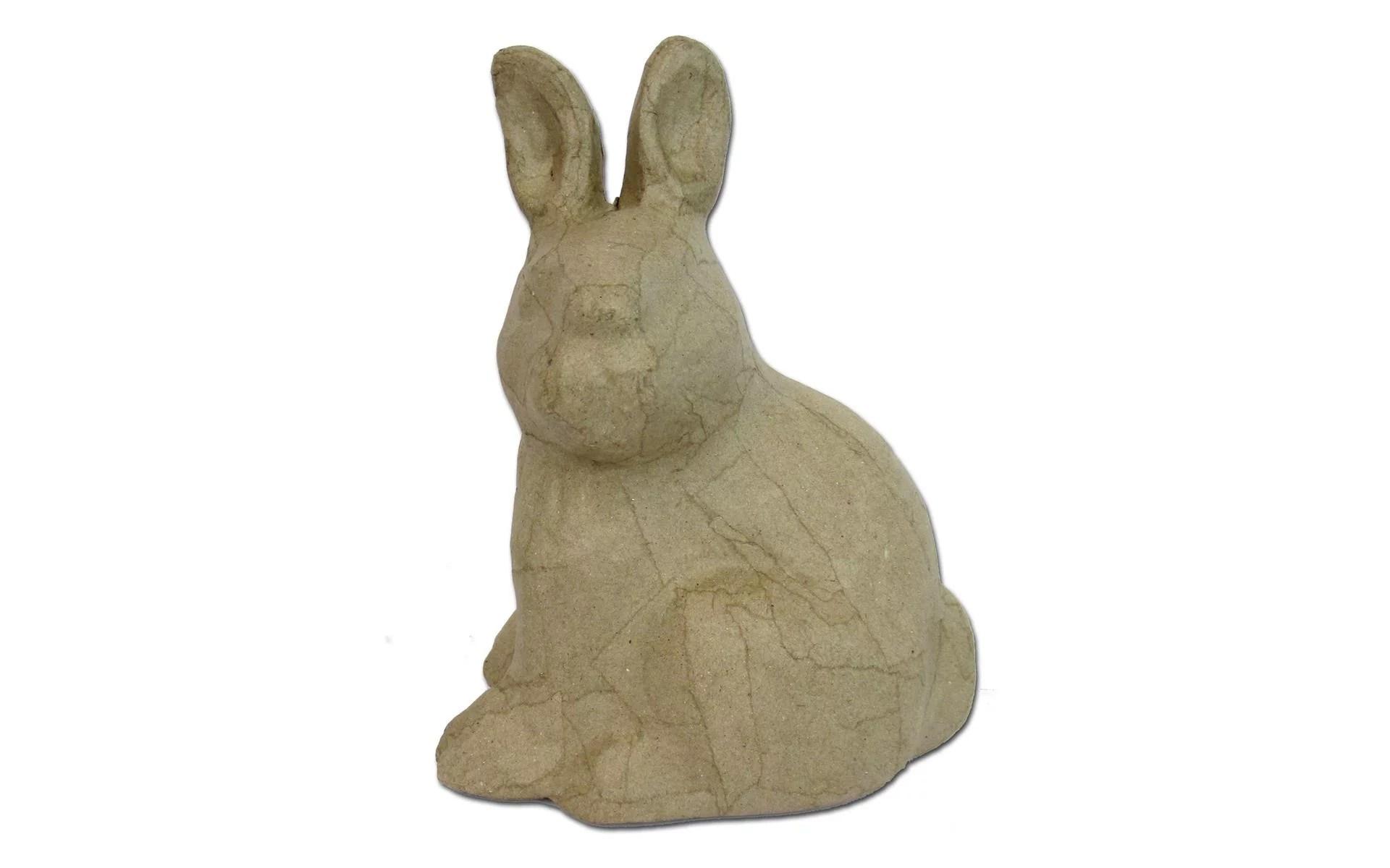 Pa Paper Mache Sitting Rabbit Head Turn Krf Walmartcom