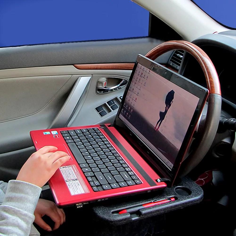 Car Steering Wheel Tray Holder Laptop Computer Gps Desk