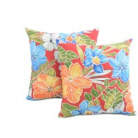 Outdoor Accent Pillows, Aloha Red, 2pk - Walmart.com