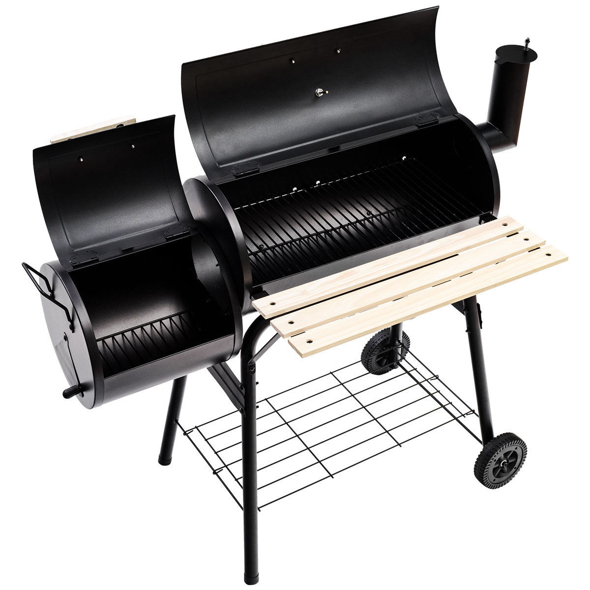 Outdoor Grill Costway Outdoor Bbq Grill Charcoal Barbecue Pit Patio Backyard Meat Cooker Smoker