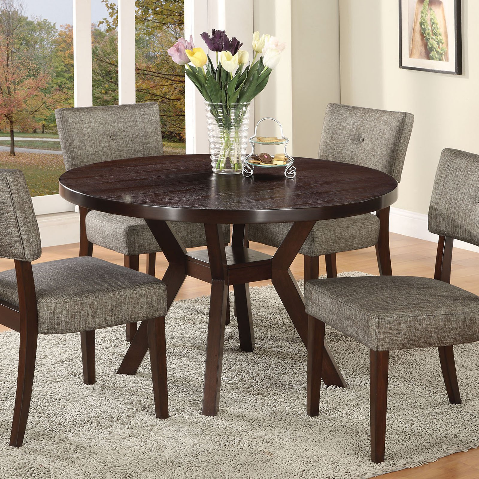 Small Dining Table Acme Drake Dining Table Espresso