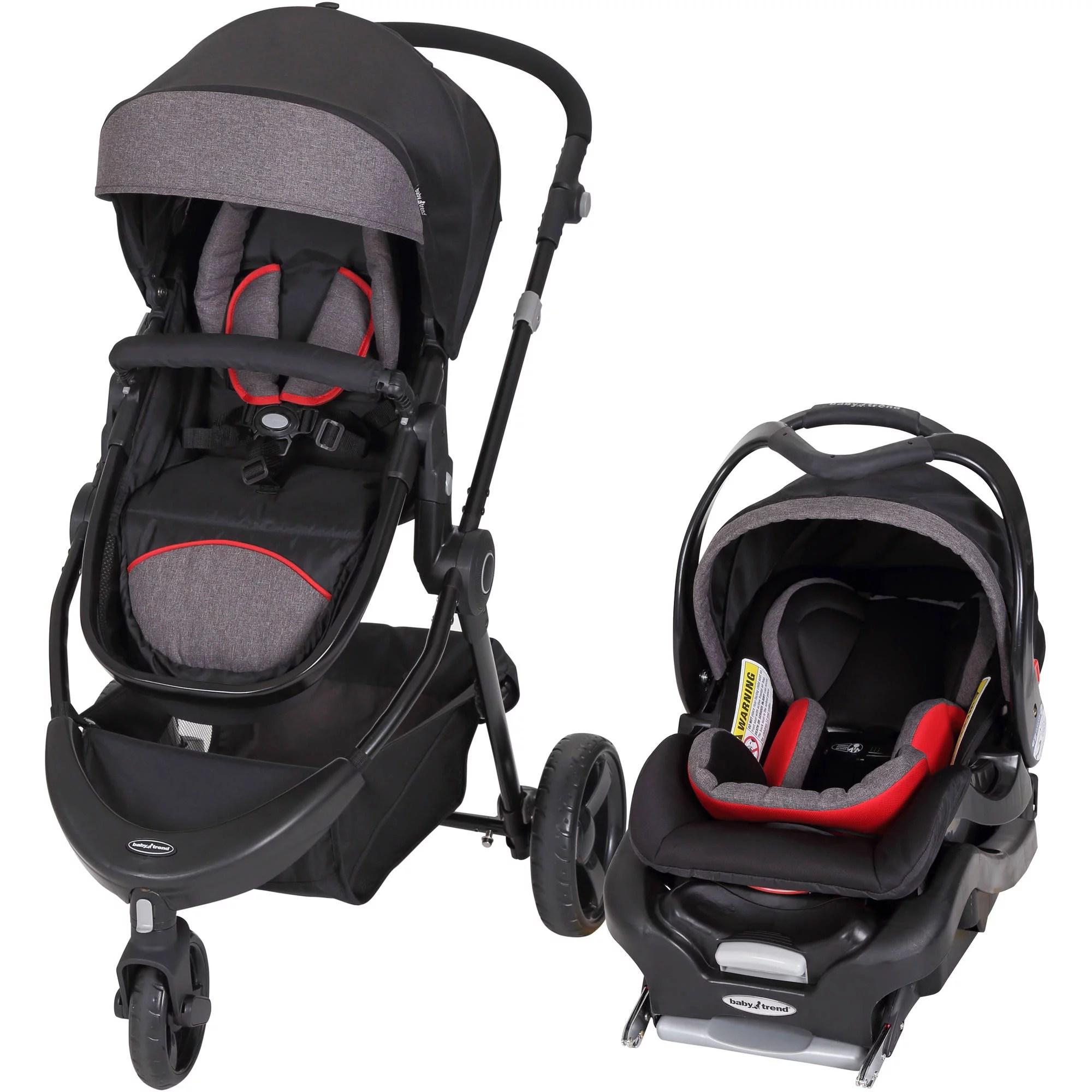 Baby Pram And Car Seat Combo Baby Trend 1st Debut 3 Wheel Travel System Red