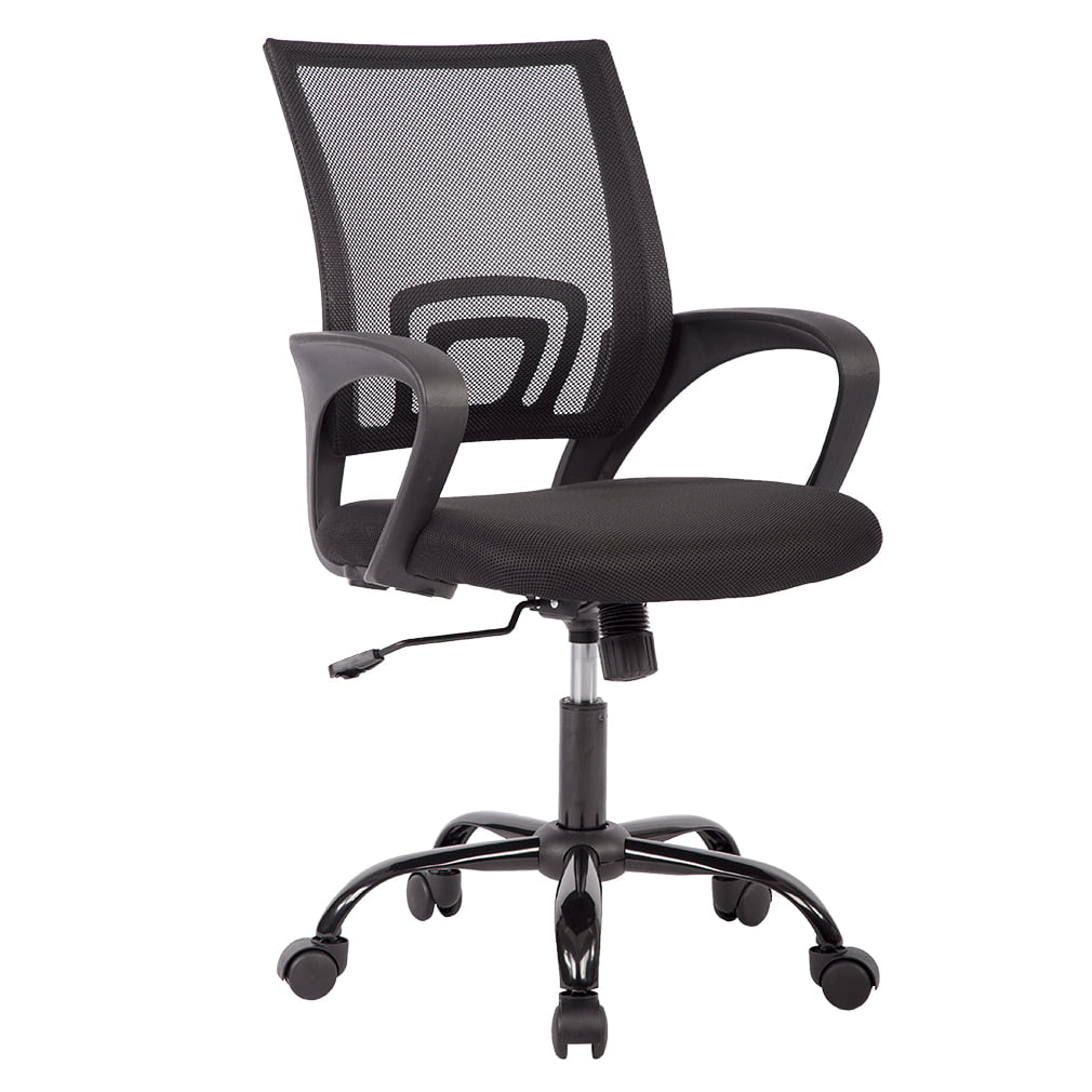 Computer Chair Ergonomically Correct Mid Back Mesh Ergonomic Computer Desk Office Chair Black