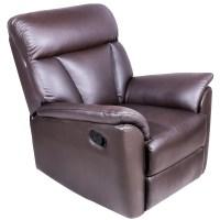 Harper&Bright Designs Recliner Sofa Chair PU Leather ...
