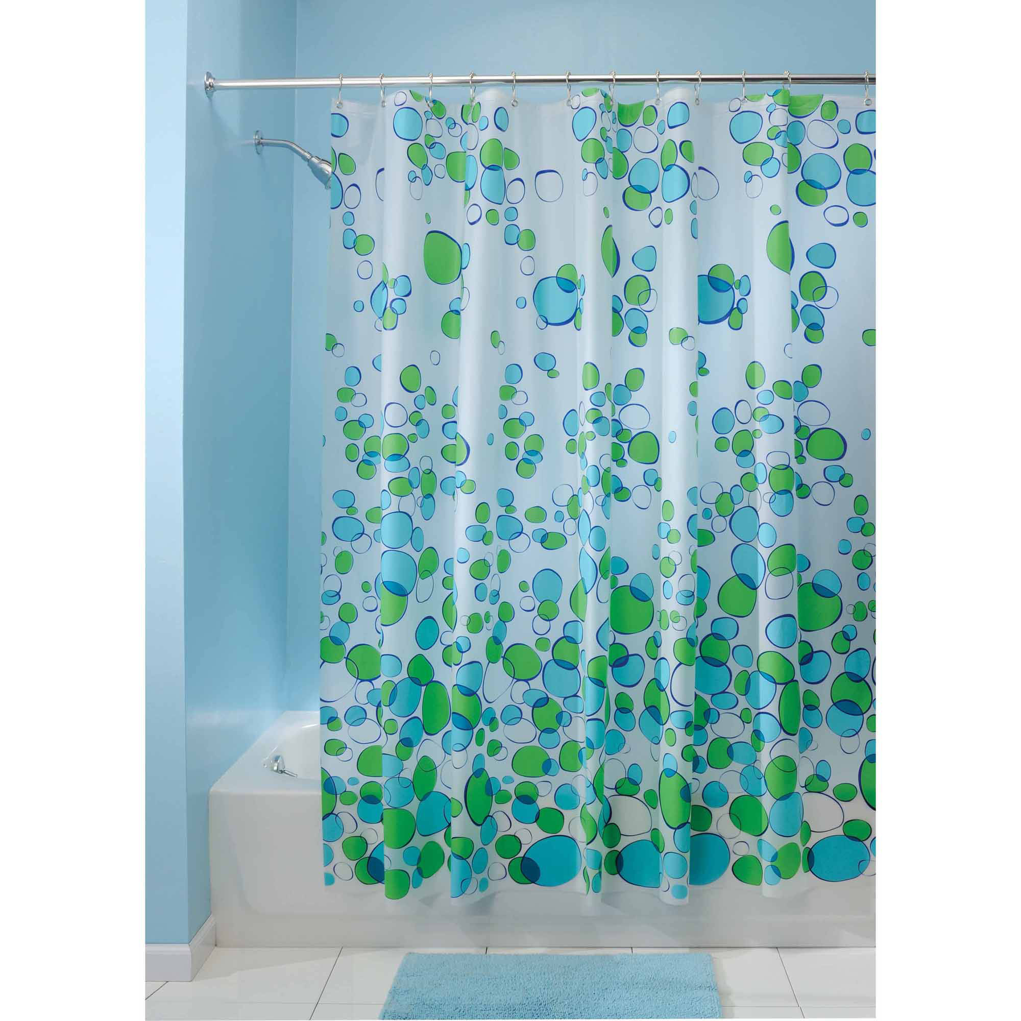 Ariel Shower Curtain Interdesign Bubblz Frosted Peva Shower Curtain 72