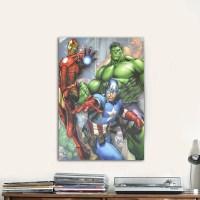 Marvel Avengers Canvas Wall Art - Walmart.com