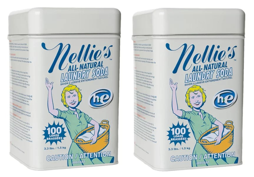Nellie39s All Natural Laundry Soda 100 Load Tin 33 Lbs