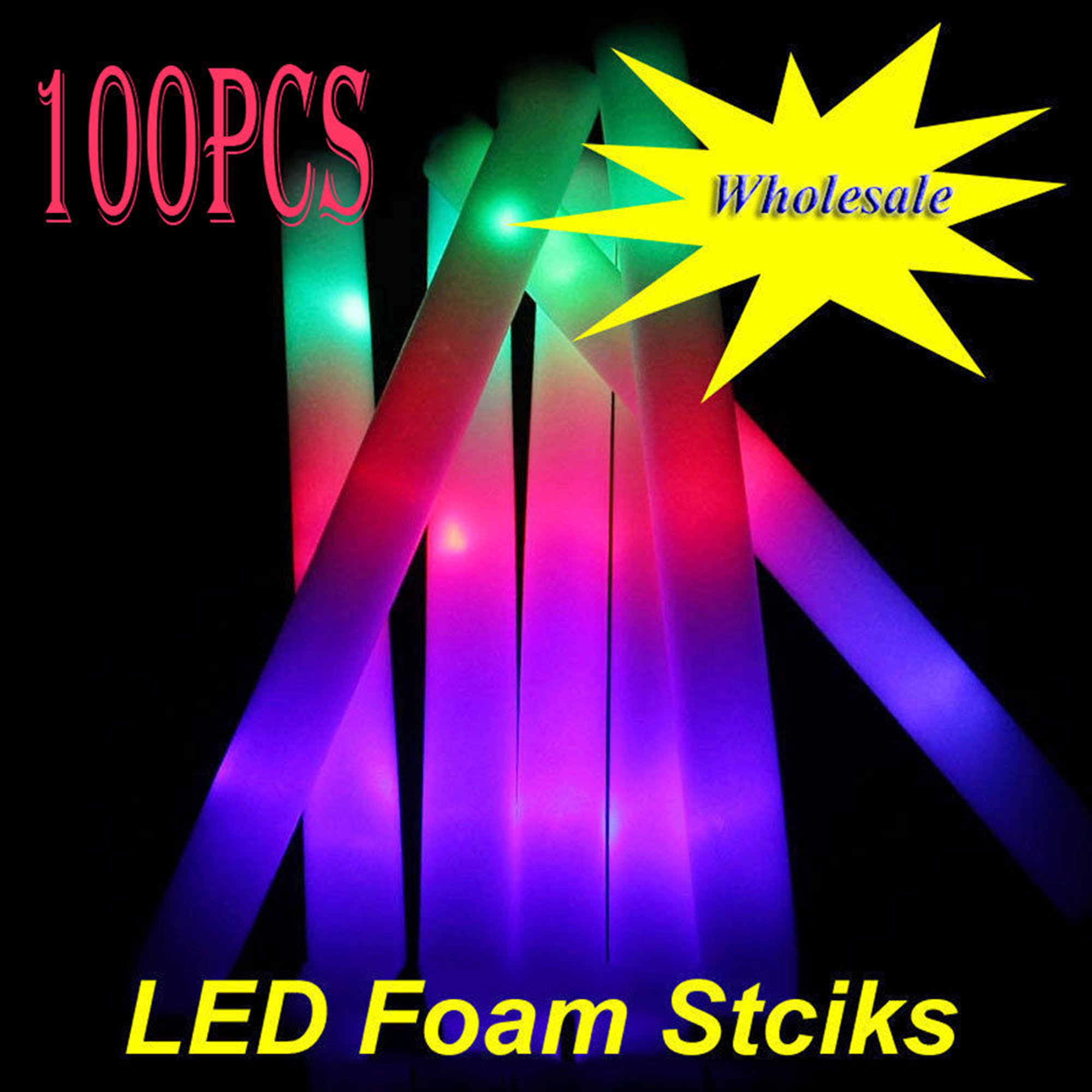 Led Glow Sticks Casung 100 Pack 19