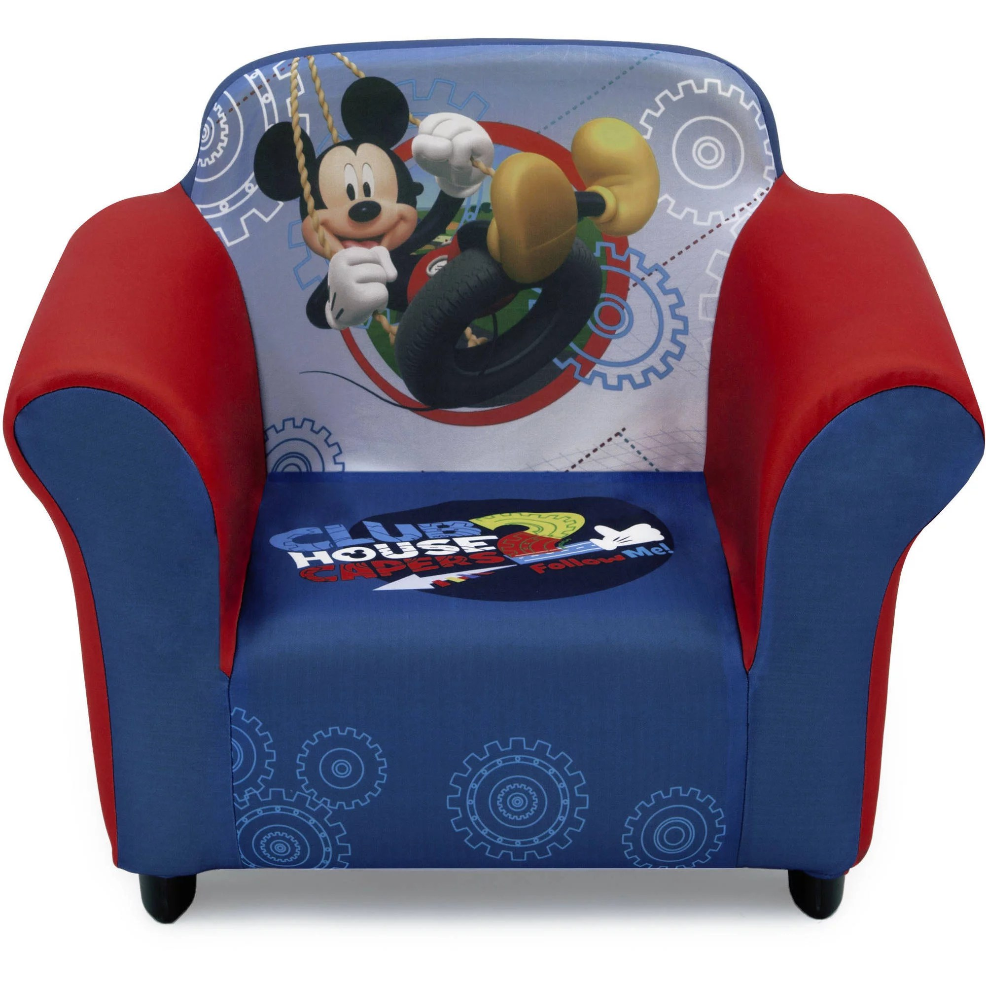 Upholstered Children's Chairs Disney Mickey Mouse Kids Upholstered Chair With Sculpted Plastic Frame By Delta Children