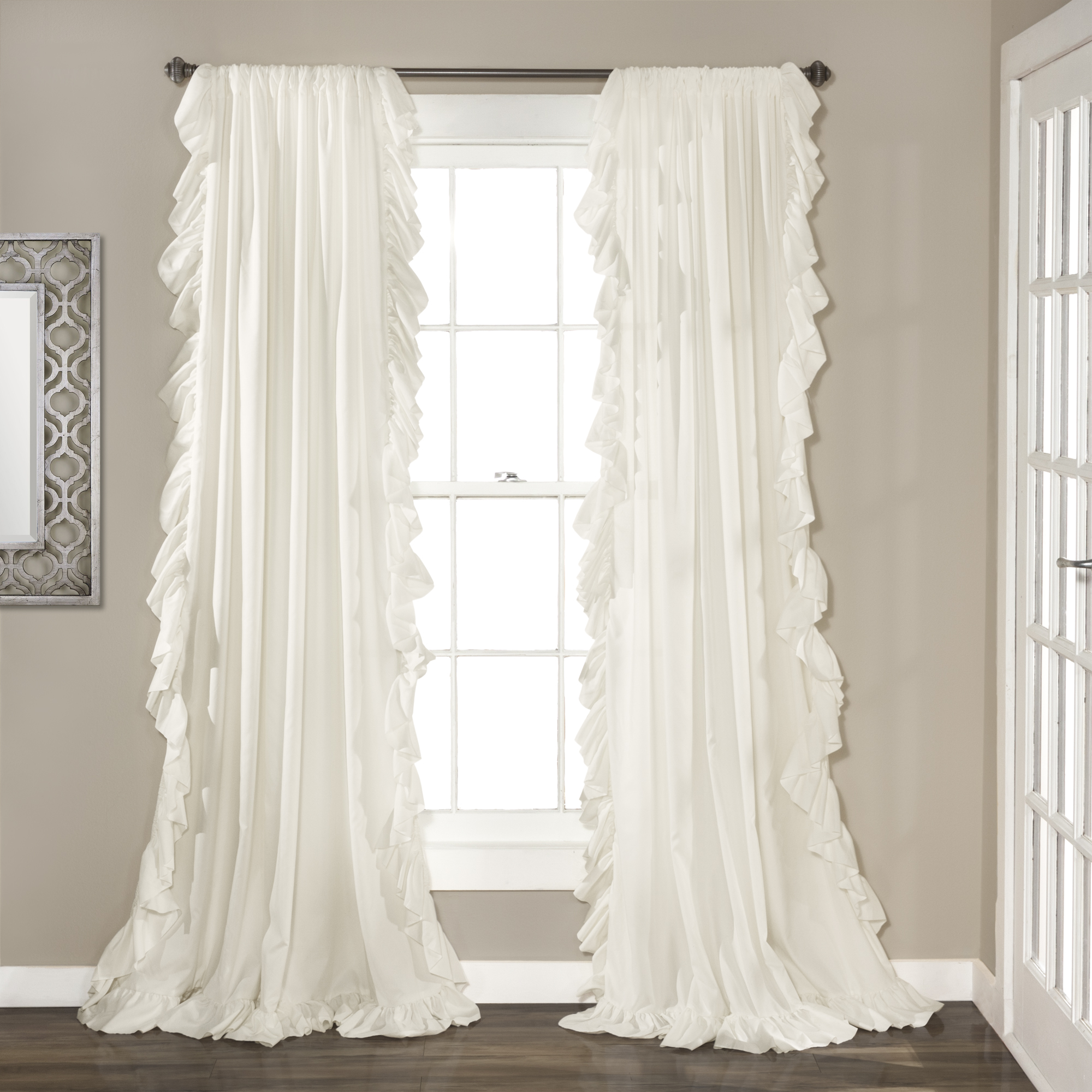 Ruffle Curtain Panel Cascading Ruffles Curtain Panel