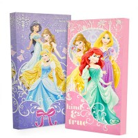 Disney Princess Glow in the Dark 2-Pack Canvas Wall Art ...