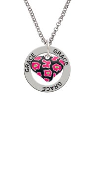 Delight Jewelry - Hot Pink Cheetah Print Heart Grace ...