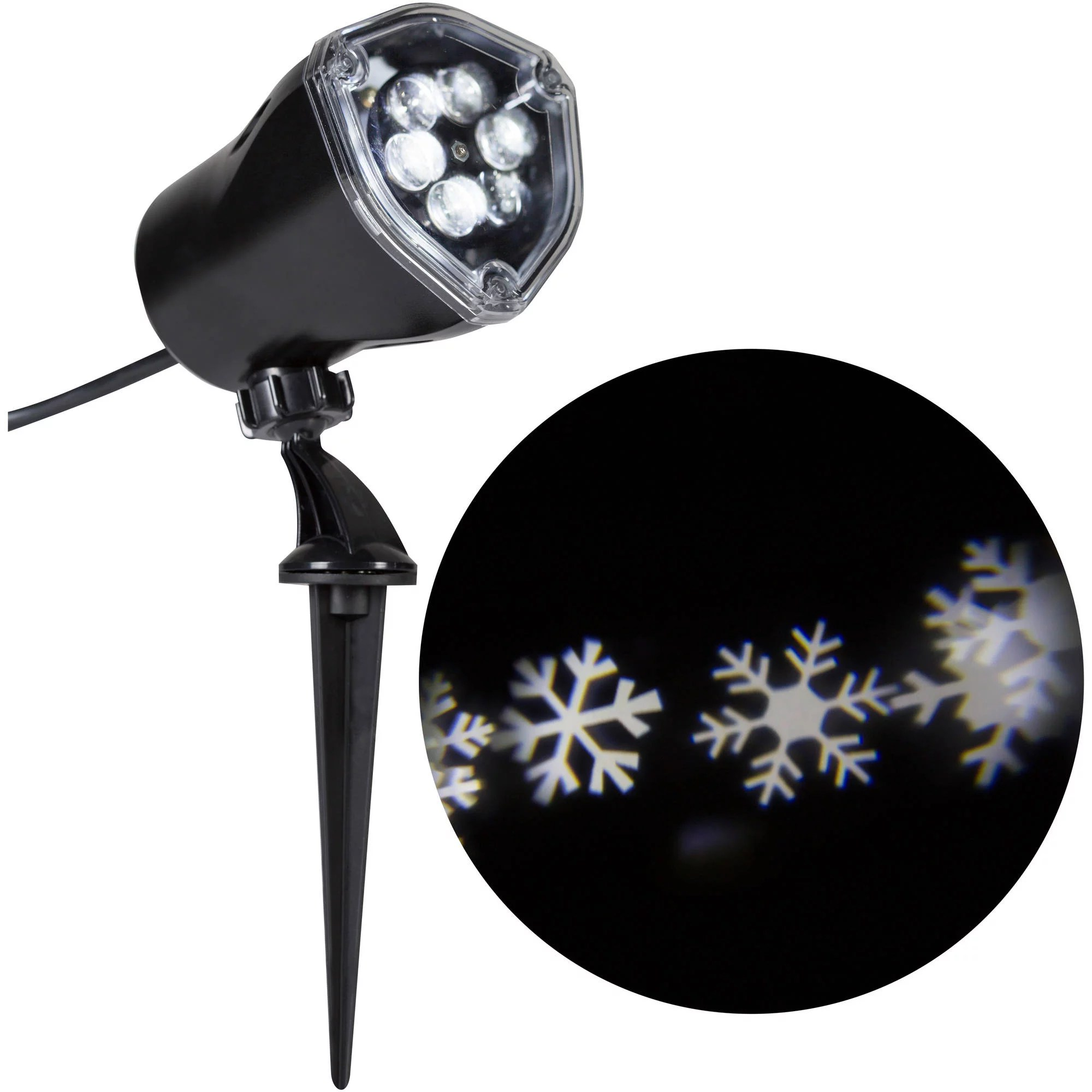 Light Projector Gemmy Lightshow Christmas Lights Led Projection Snow Flurry Lights White