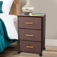 Lifewit Nightstand 3 Drawers Bedside End Table Organizer ...