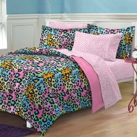 My Room Neon Leopard Complete Bed in a Bag Bedding Set ...