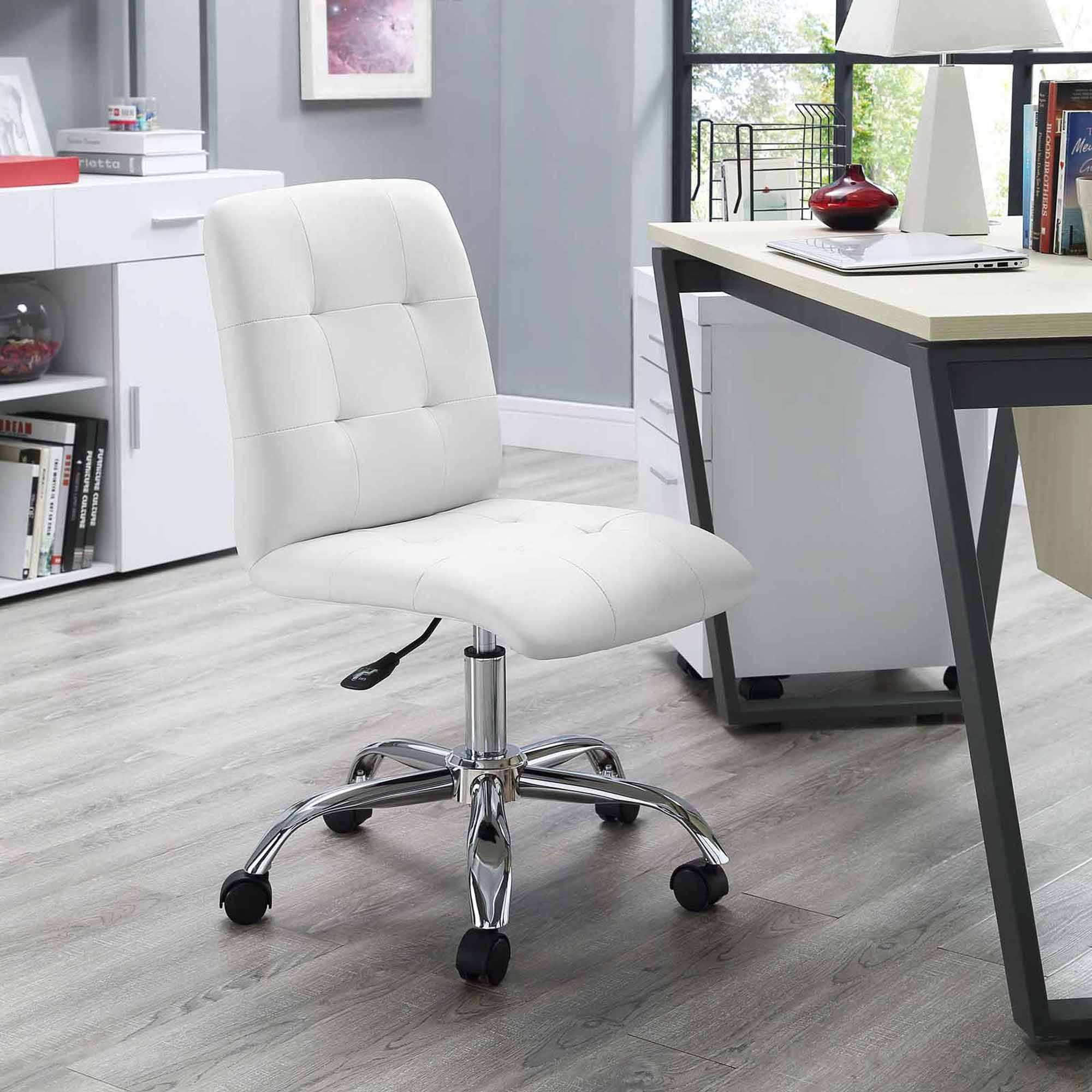Baby Chairs At Walmart Modway Prim Armless Midback Leatherette Office Chair